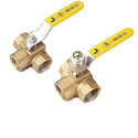 Ball Valves In Metal - 3 Way