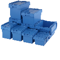 Attached Lid Containers, Lidded Totes & Distribution Boxes
