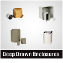 Deep drawn cases and enclosures