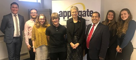 Vice Chancellor of Plymouth University visits Applegate