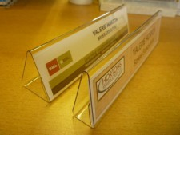 Clear Acrylic Name Holders
