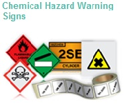 Hazardous substances and chemical warning labels and signs