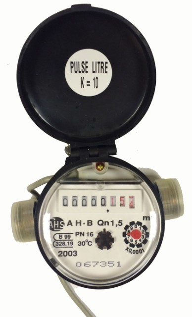 "1/2"" Water Meter with Removable Pulse Output :: New"