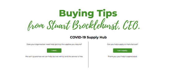 Three tips to help buying essential COVID-19 supplies