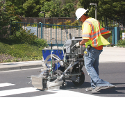 Line Marking with Paint or Thermoplastic