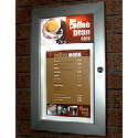 Slimlok Menu Display Case - LED illuminated, or non-illuminated available