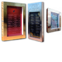 Premium Polished Menu Display Case