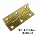 105 Solid Drawn Brass Butt Hinges, Chrome Plated (CP), 100mm