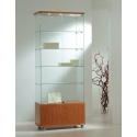 Glass Display Showcase 60w x 40d x 180h (cm) Code PD1716 With Locking Cupboard