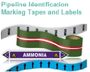 Pipe and valve marking tapes, labels and tags