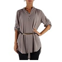 TOP BELTED CLIP SLEEVE PARIS FASHION