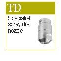 Nozzles for spray drying