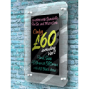 The Acrylic ChalkBoard... ultra smooth, easy to wipe clean!