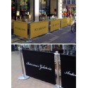 Cafe Barriers - Adfresco premium range