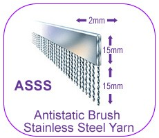 Antistatic Brush Stainless Steel Yarn