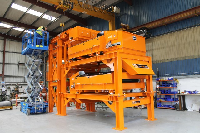 Six Metre Double-Stacked Eddy Current Separator Module Supplied to St. Margarets Recycling for Complete Metal Recovery