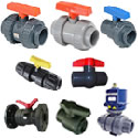 Two Way Ball Valve In Plastic