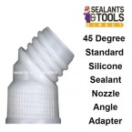10 x 45 degree angled Silicone Sealant Nozzle adapter