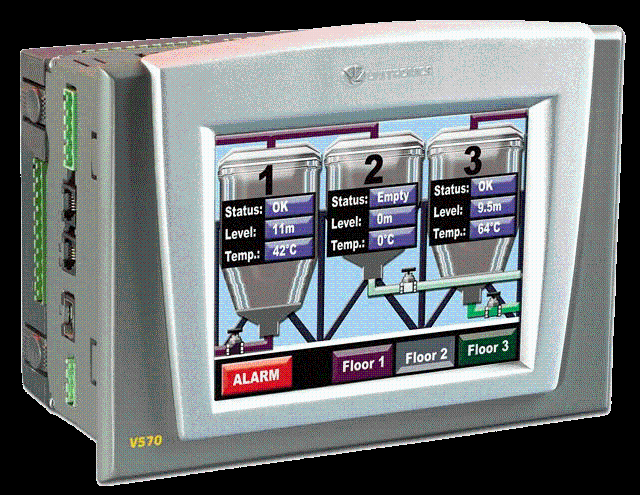 "PLC & HMI FULL Colour 5.7"" with Snap in I/O and Panel mounted I/O"