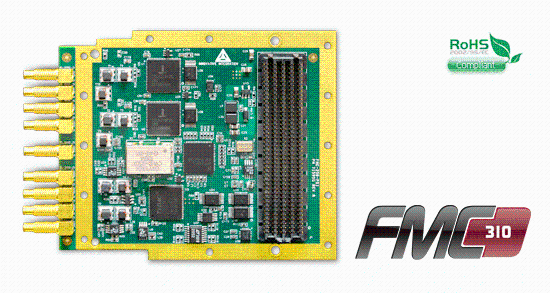 FMC-310 Data Acquisition board with 310MSPS 16 bit AD9652 ADC's on FMC