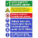 Construction and site safety signs