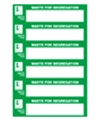 Environment management labels and signs