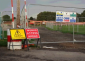 Site and traffic management signs.