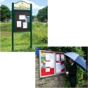 SIDE HINGED EXTERIOR LOCKABLE NOTICE BOARDS