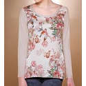LONG SLEEVE FLOWER PRINT CAMISOLE