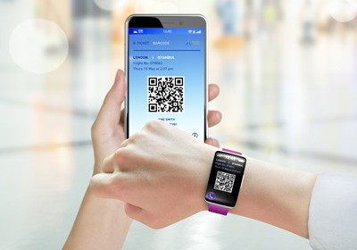 2D barcode and NFC readers
