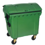 Extra Large Wheeled Bin (1100 Litre) with 4 Wheels and Roll Top Lid