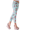 JEANS FASHION FLOWER DESIGN TROUSERS