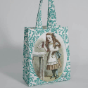 BLEACHED CANVAS GUSSETED BAG WITH FULL COLOUR PRINT