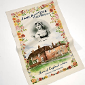 UNBLEACHED COTTON TEA TOWEL FULL COLOUR PROCESS + ONE SPOT PLACEMENT PRINT