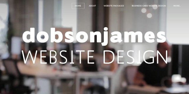 Dobsonjames Website Design