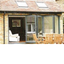 Aluminium & Timber Clad Bi Folding Doors