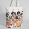 CANVAS GUSSETED BAG PRINTED ALL OVER