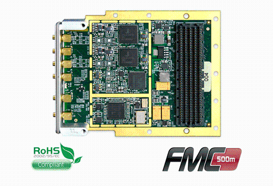 FMC-500 Data Acquisition module using AD9684 ADCs and 1230MSPS DACs on FMC