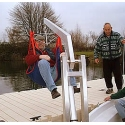 Hoist for Disabled Sailors and Safety Ladder