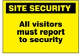 Security signs and labels